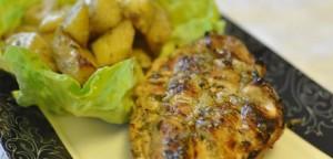 Pranzul zilei: ciorba de salata, pui libanez, cartofi boieresti, salata greceasca