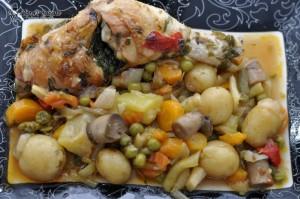 Ghiveci de legume cu pui