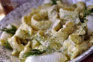 Salată de fasole galbenă cu maioneză