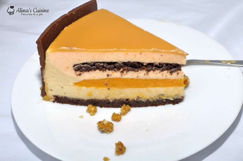 tort mousse caise si mousse caramel 101
