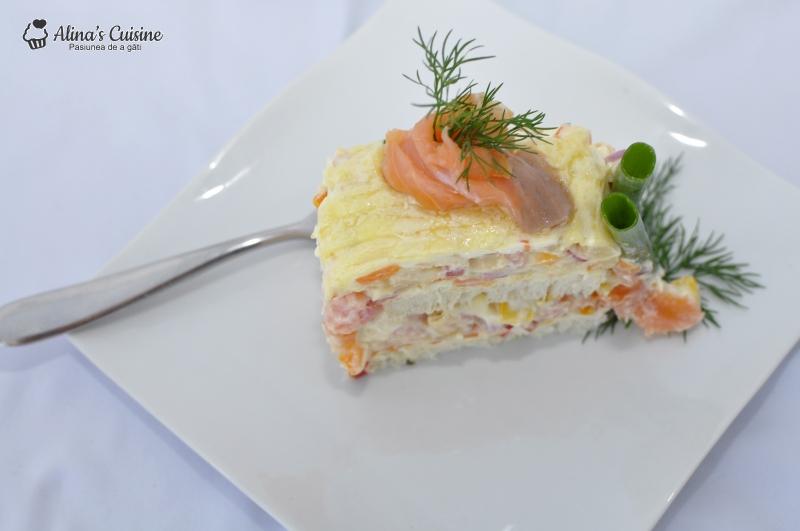 tort aperitiv cu somon afumat 040