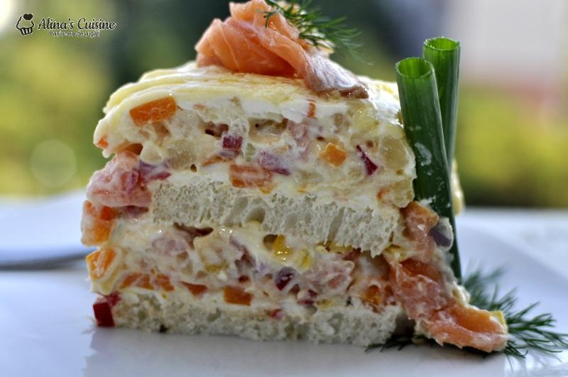 tort aperitiv cu somon afumat 045