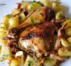 Pui la cuptor cu cartofi taranesti