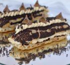 Ecler cu crusta craqueline si crema caramel